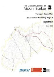 Stakeholder Workshop Report SUMMARY - District Council of Mount ...