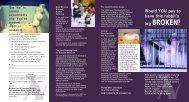 NAVS charities leaflet