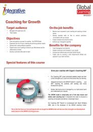 Coaching for Growth - Integrative