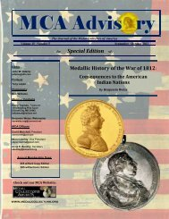 The MCA Advisory - Historical and Commemorative Medals