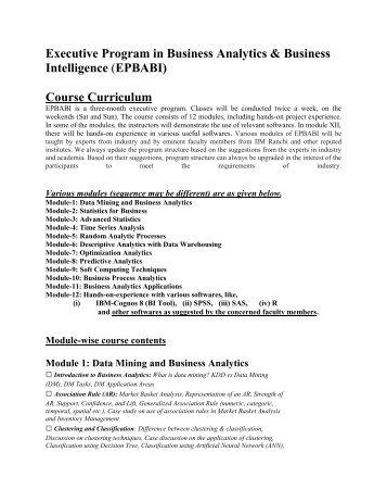 Programme Structure - IIM Ranchi