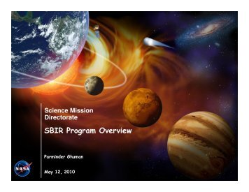 SBIR Program Overview - Space Flight Systems - NASA