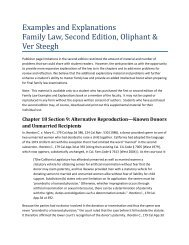 Known Donors and Unmarried Recipients - Aspen Publishers