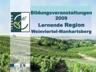 Analyse der Bildungsveranstaltungen 2009 - LEADER Region ...