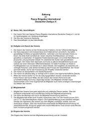 Satzung der peace brigades international - Deutscher Zweig e.V. - PBI
