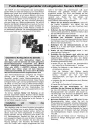 Funk-Bewegungsmelder mit eingebauter Kamera 8004P - Indexa