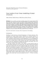 Case studies of non-linear modelling of metal structures