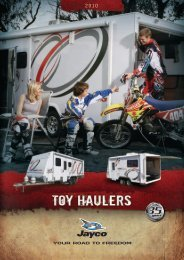 built for boys who love their toys - White Heather Caravans