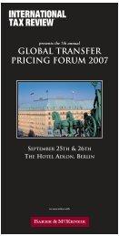 GTPF07 Flyer - International Tax Review
