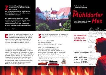 Mühldorfer Hex - Kulturschuppn.de