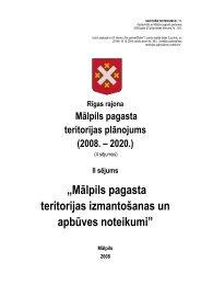 """""""Mālpils pagasta teritorijas izmantošanas un apbūves noteikumi"""""""