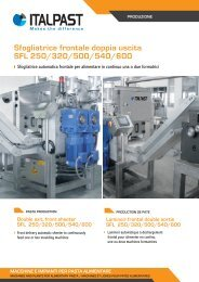 Sfogliatrice frontale doppia uscita SFL da 250 a 600 - Italpast