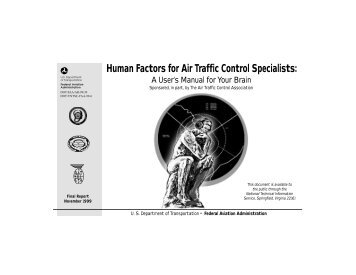 Human Factors for Air Traffic Control Specialists: A User's Manual