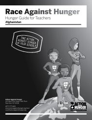 Hunger Guide for Teachers: Afghanistan - Action Against Hunger