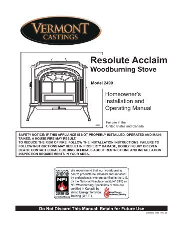 Owners Manual - Ferguson's Fireplace & Stove