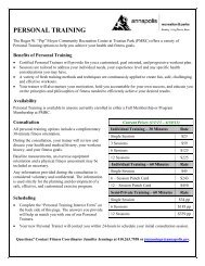 Personal Training Interest Form