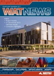 Shareholder Newsletter 2011 - Watpac