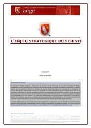 L'enjeu stratégique du schiste - Base de connaissance AEGE