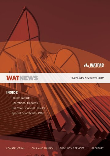 Shareholder Newsletter 2012 - Watpac
