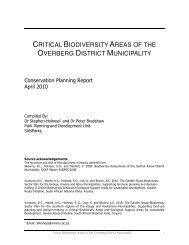 Overberg Conservation Planning Report - Biodiversity GIS - SANBI