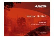 30 June 2012 Full Year Results Presentation - Watpac
