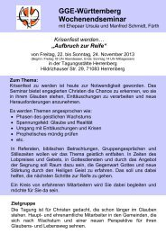 GGE-Württemberg Wochenendseminar - Geistliche Gemeinde ...