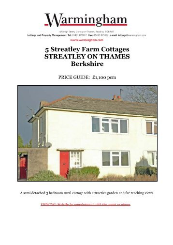 5 Streatley Farm Cottages STREATLEY ON THAMES ... - Warmingham