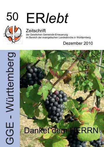 Download - Nr. 50 - Dezember 2010 als PDF-Datei - Geistliche ...
