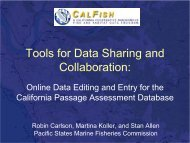 Tools for Data Sharing and Collaboration: - Organization of Fish and ...