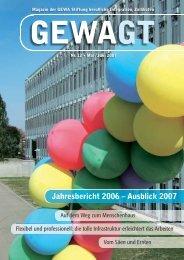 Jahresbericht 2006 – Ausblick 2007 - bei urs roth