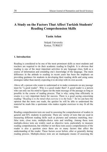 Reading Comprehension Skills - DSpace at Khazar University