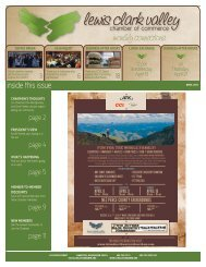 April - Lewis Clark Valley Chamber of Commerce