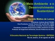 O Meio Ambiente e o Desenvolvimento Sustentável - abq