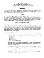 Detroit Public Schools Title I Parent & Family Engagement Policy ...