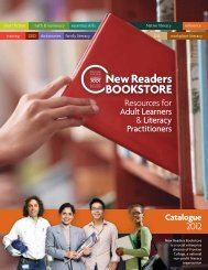 new! - Frontier College New Readers Bookstore