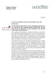 Christiane Wodtke ist neue Präsidentin des HKI-Verbandes