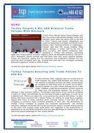Turkey Targets 5 Bln USD Bilateral Trade Volume With Denmark ...
