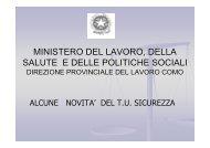 ministero del lavoro, della salute e delle politiche sociali - Asl Como