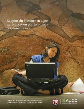 Rapport du Sommet en ligne sur l'éducation postsecondaire des ...