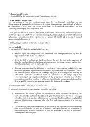 Vedtagne love i 1 - Finanstilsynet