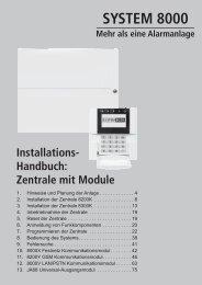 SYSTEM 8000 Mehr als eine Alarmanlage Installations - Indexa