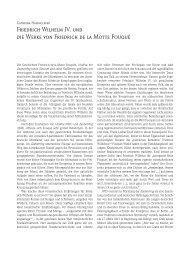 Friedrich Wilhelm IV. und die Werke von Friedrich de la Motte Fouqué