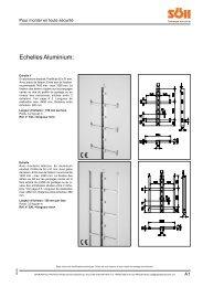 Chapitre A : Echelles aluminium - Antec