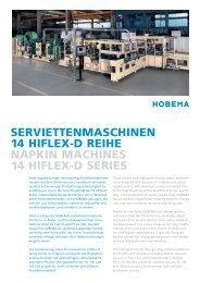 serviettenmaschinen 14 hiflex-d reihe napkin machines 14  hiflex-d ...