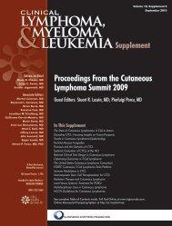 Proceedings From the Cutaneous Lymphoma Summit 2009