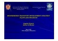 montenegrin transport development strategy plans and ... - SEETO