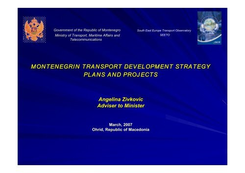 montenegrin transport development strategy plans and ... - SEETO