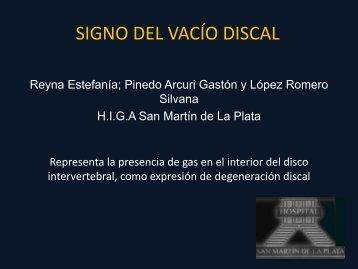 SIGNO DEL VACÍO DISCAL - Congreso SORDIC