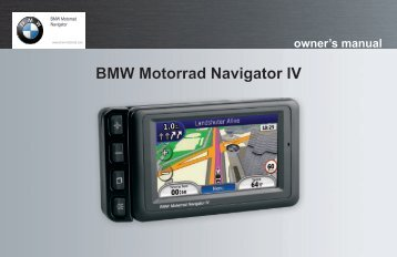 BMW Motorrad Navigator IV owner's manual - Garmin