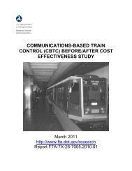 Communications-Based Train Control (CBTC) - Federal Transit ...